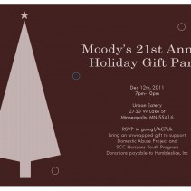 Moody's 21st Annual Holiday Gift Party